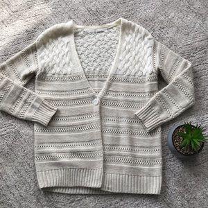 hinge // mohair + wool cardigan